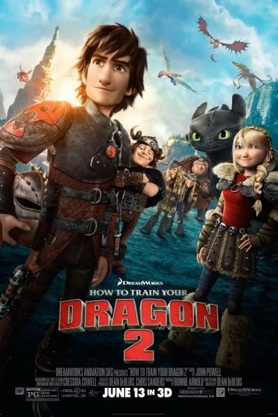 Caratula, cartel, poster o portada de Cómo entrenar a tu dragón 2