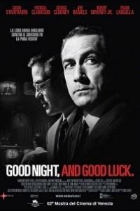 Caratula, cartel, poster o portada de Buenas noches, y buena suerte