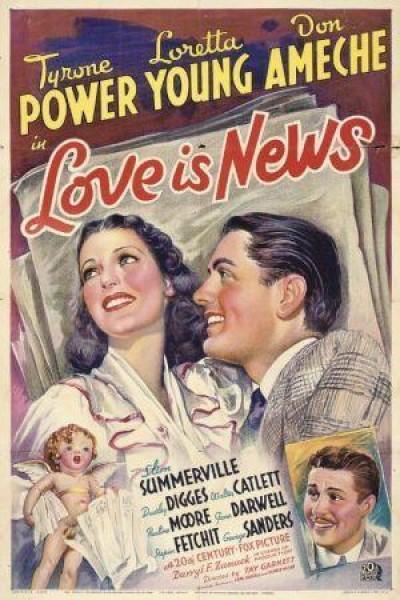 Caratula, cartel, poster o portada de Amor y periodismo