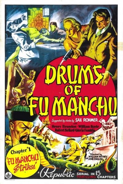 Caratula, cartel, poster o portada de Los tambores de Fu Manchú