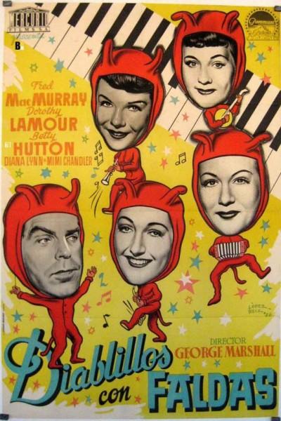 Caratula, cartel, poster o portada de Diablillos con faldas