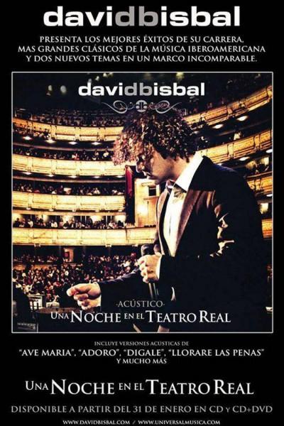 Caratula, cartel, poster o portada de David Bisbal: Una noche en el Teatro Real