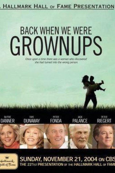 Caratula, cartel, poster o portada de Back When We Were Grownups