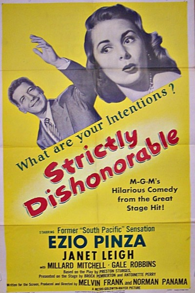 Caratula, cartel, poster o portada de Strictly Dishonorable