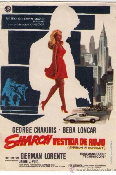 Caratula, cartel, poster o portada de Sharon vestida de rojo