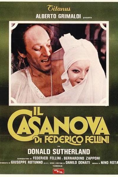 Caratula, cartel, poster o portada de Il Casanova di Federico Fellini