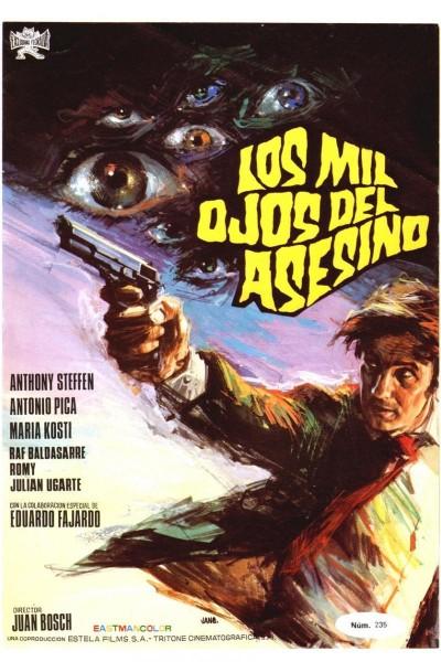 Caratula, cartel, poster o portada de Los mil ojos del asesino