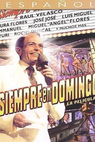 Caratula, cartel, poster o portada de Siempre en domingo, la película