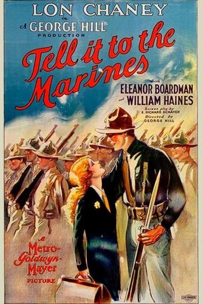 Caratula, cartel, poster o portada de El sargento malacara (Tell It to the Marines)