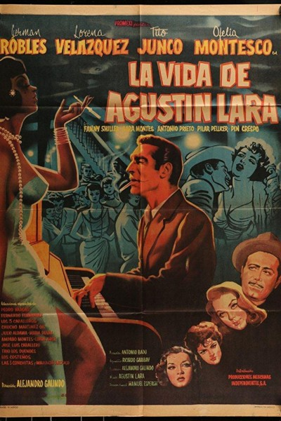 Caratula, cartel, poster o portada de La vida de Agustín Lara