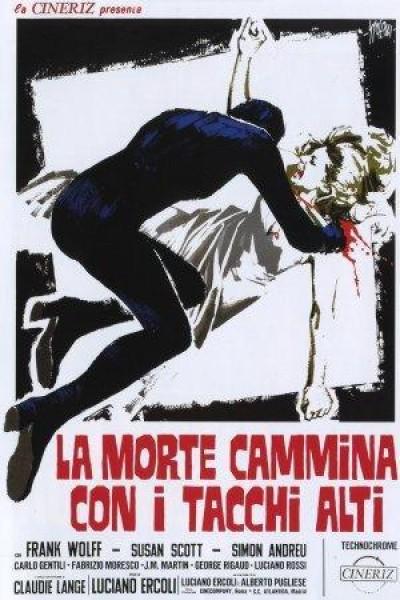 Caratula, cartel, poster o portada de La muerte camina con tacón alto