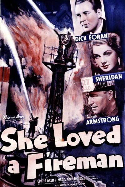 Caratula, cartel, poster o portada de She Loved a Fireman