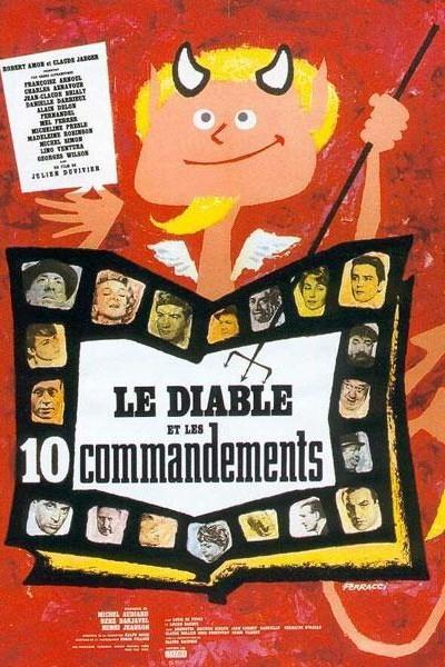 Caratula, cartel, poster o portada de El diablo y los diez mandamientos