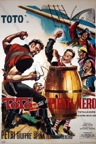 Caratula, cartel, poster o portada de Totó contra el pirata negro