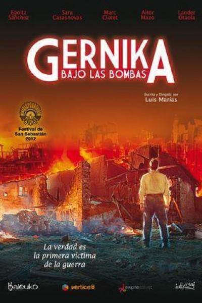 Caratula, cartel, poster o portada de Gernika bajo las bombas