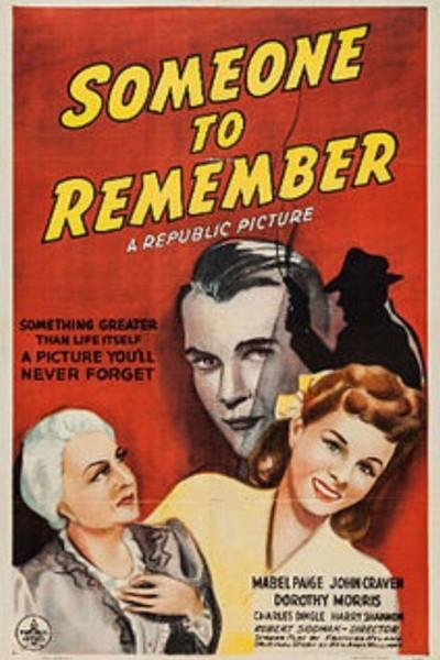 Caratula, cartel, poster o portada de Someone to Remember
