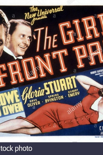 Caratula, cartel, poster o portada de The Girl on the Front Page