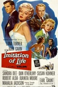 Caratula, cartel, poster o portada de Imitación a la vida