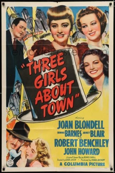 Caratula, cartel, poster o portada de Three Girls About Town