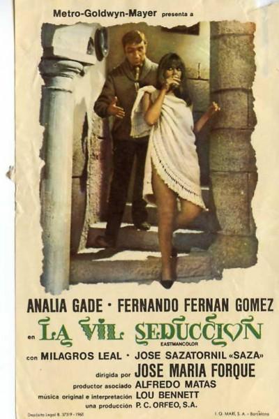 Caratula, cartel, poster o portada de La vil seducción
