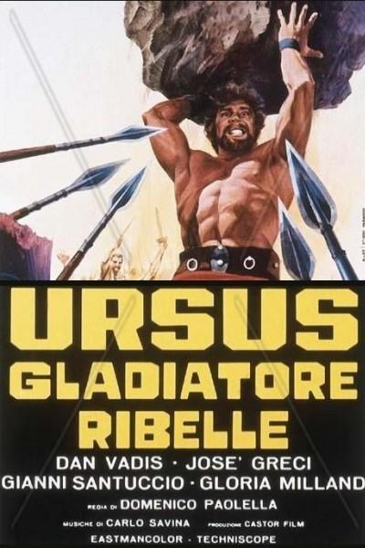 Caratula, cartel, poster o portada de Ursus, el gladiador