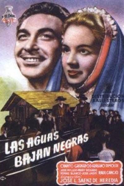 Caratula, cartel, poster o portada de Las aguas bajan negras