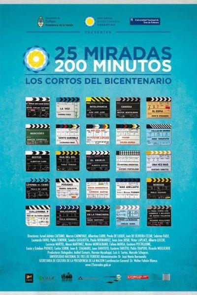 Caratula, cartel, poster o portada de 25 miradas, 200 minutos