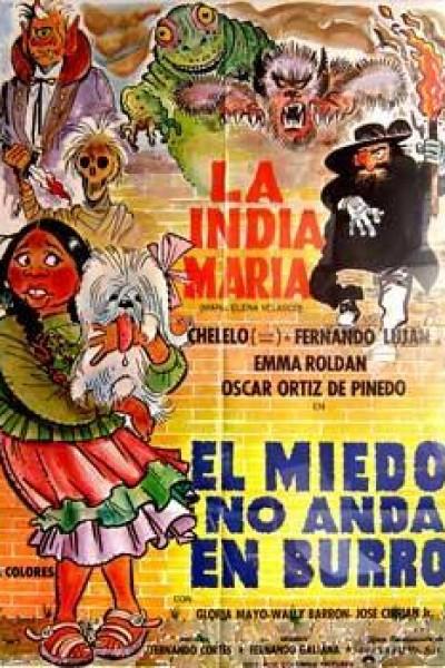 Caratula, cartel, poster o portada de El miedo no anda en burro