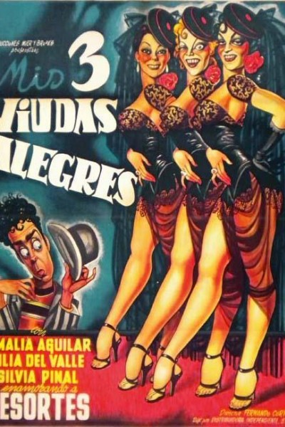 Caratula, cartel, poster o portada de Mis tres viudas alegres