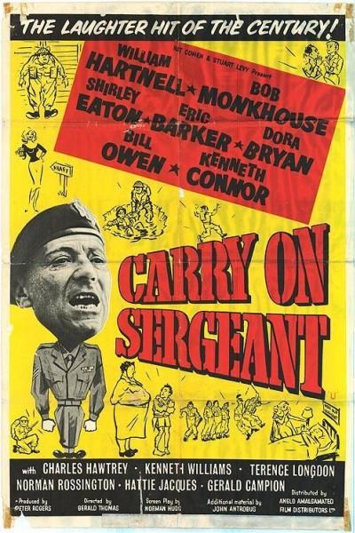 Caratula, cartel, poster o portada de Carry on Sergeant