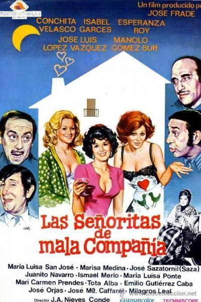 Caratula, cartel, poster o portada de Las señoritas de mala compañía
