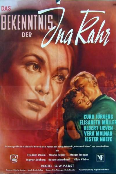 Caratula, cartel, poster o portada de Das Bekenntnis der Ina Kahr