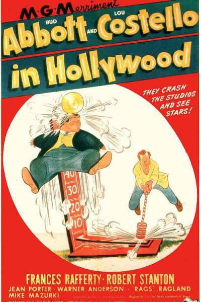Caratula, cartel, poster o portada de Abbott y Costello en Hollywood