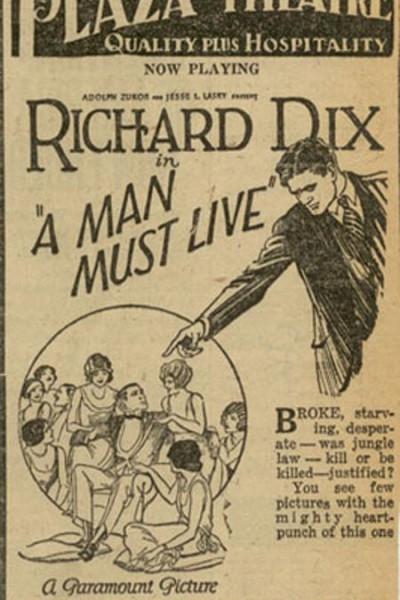 Caratula, cartel, poster o portada de A Man Must Live