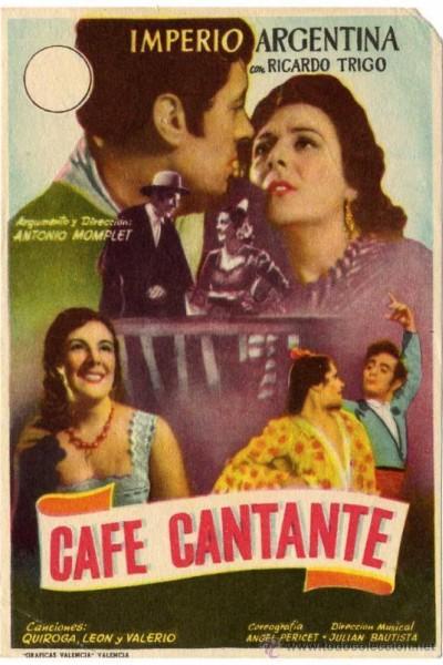 Caratula, cartel, poster o portada de Café cantante
