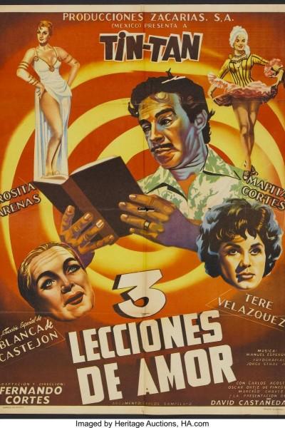 Caratula, cartel, poster o portada de Tres lecciones de amor