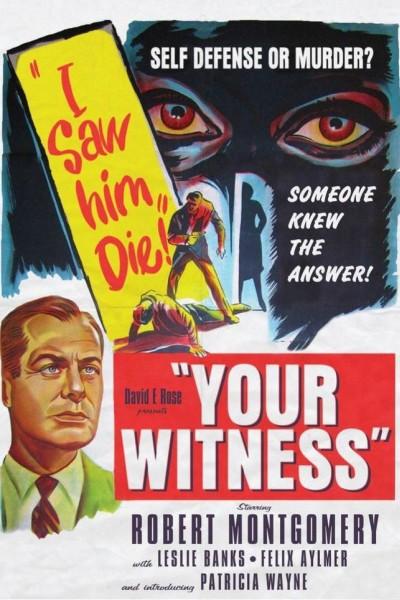 Caratula, cartel, poster o portada de Su testigo