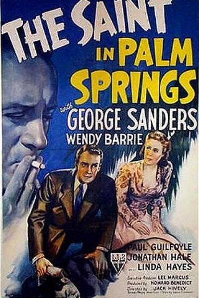 Caratula, cartel, poster o portada de El Santo en Palm Springs