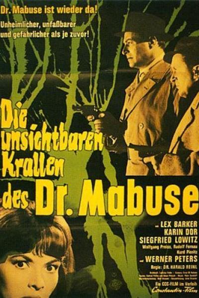Caratula, cartel, poster o portada de Las garras invisibles del Doctor Mabuse