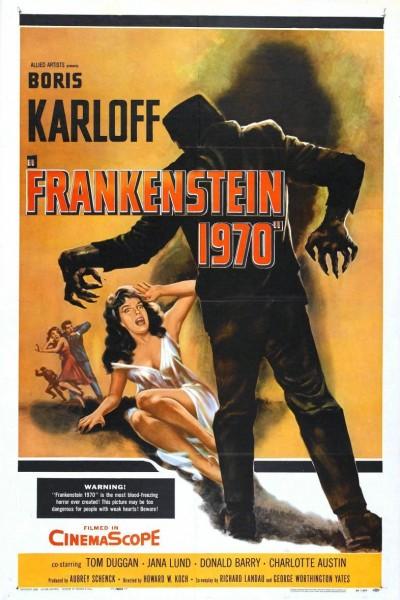 Caratula, cartel, poster o portada de El castillo de Frankenstein