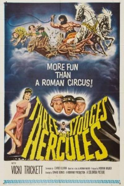 Caratula, cartel, poster o portada de Los tres chiflados contra Hércules