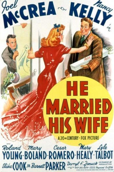Caratula, cartel, poster o portada de He Married His Wife