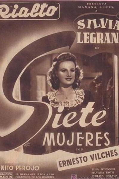 Caratula, cartel, poster o portada de Siete mujeres