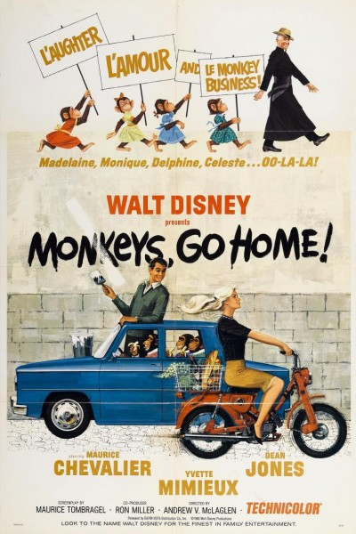 Caratula, cartel, poster o portada de La invasión de los monos