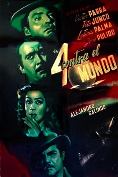 Caratula, cartel, poster o portada de Cuatro contra el mundo