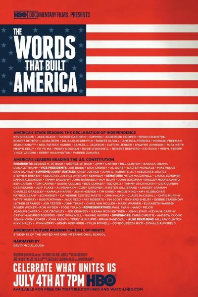 Caratula, cartel, poster o portada de The Words That Built America