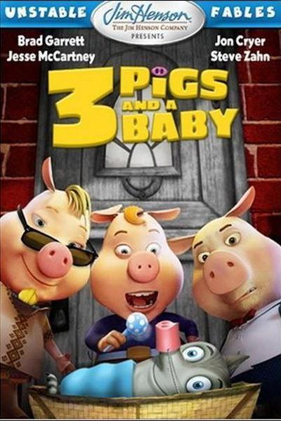 Caratula, cartel, poster o portada de Tres cerdos y un bebé