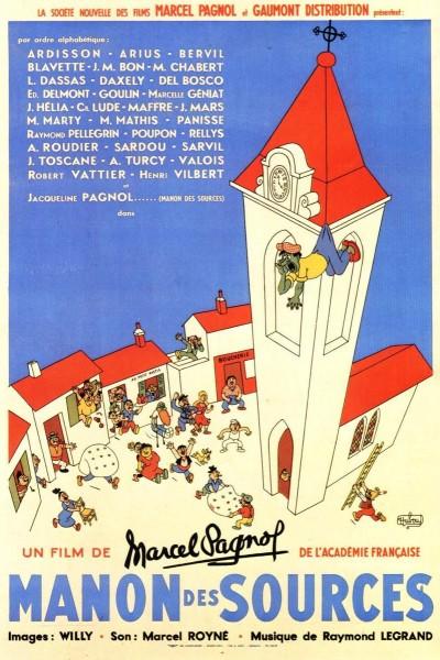 Caratula, cartel, poster o portada de Manon del manantial