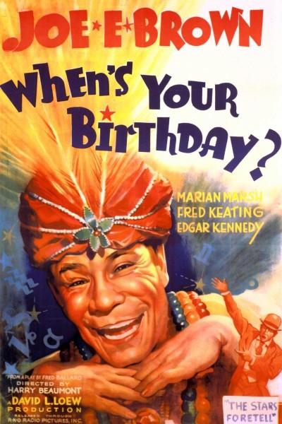 Caratula, cartel, poster o portada de When\'s Your Birthday?