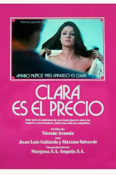Caratula, cartel, poster o portada de Clara es el precio